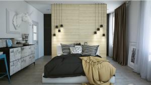 Применение интересного способа осветить спальное место