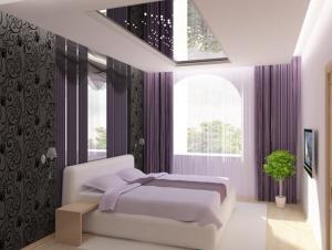 Гармония цвета кровати и стен