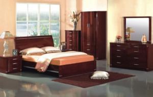 Пример большого количества мебели в спальне