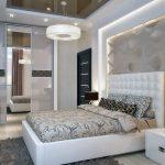 Небольшая спальня с оформленным стилем модерн