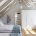 Небольшая спальня в красивом скандинавском стиле