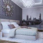 Необычный вариант люстры для спальни