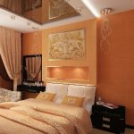 Нежный оранжевый оттенок для спальни