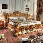Оформление красивого стиля ампир в спальне