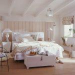 Оформление красивого стиля кантри в спальне