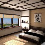 Оформление спальни в современном японском стиле