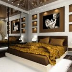Оформление спальни в темных тонах стиля модерн