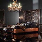 Оригинальная черная большая спальня