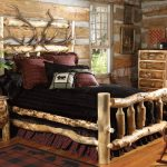 Оригинальный интерьер спальни кантри
