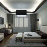 Освещение в спальне комбинированного типа