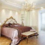 Паркет для обустройства стильной спальни
