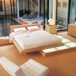 Пастельная спальня в японском стиле