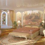 Правильно оформленный стиль ампир в спальне