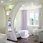 Принципы зонирования прострной спальни