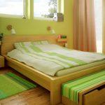 Природность зеленой спальни