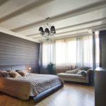 Привлекательный интерьер спальни, выполненный в стиле модерн