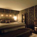 Раскошный стиль спальни в коричневых цветах