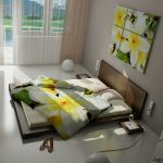 Релаксирующий иньерьер зеленой спальни