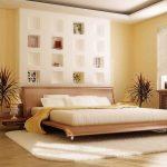 Сдержанный японский стиль для спальни