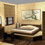 Секреты оформления спальни в японском стиле
