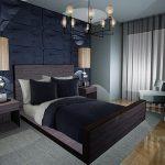 Серые тона для создания интерьера спальни