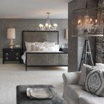 Серый цвет для обустройства интерьера спальни