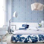 Синий цвет для организации спальни