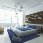 Современные полки для стен в спальне