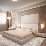 Современные шкуры животных делают интерьер спальни оригинальной
