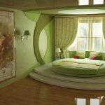 Современный дизайн зеленой спальни