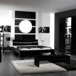 Современный интерьер черной спальни