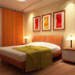 Создано комбинированное освещение в спальне