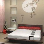 Спальня, обустроенная в японском стиле