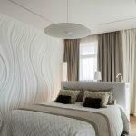 Спальня оформленная в белом цвете