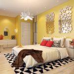 Спальня, оформлення в желтом