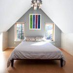 Спальня с пробковым покрытием пола