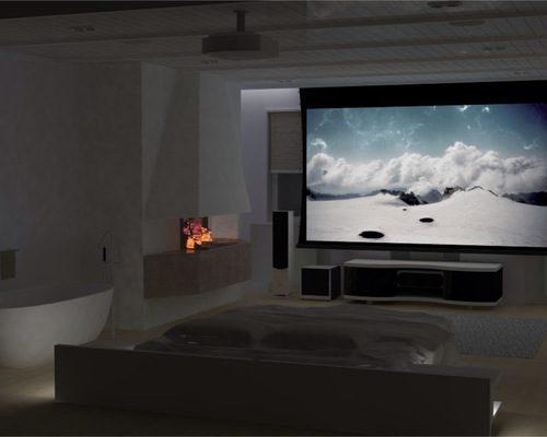 Спальня с современной музыкальной системой для комфортного отдыха