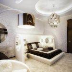 Спальня, созданная по чертам стиля модерн
