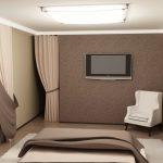 Спальня созданная в коричневом цвете