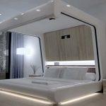 Спальня в практичном стиле хай-тек