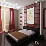 Спальня в привлекательном японском стиле