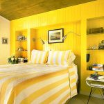 Спальня в желтом дизайне