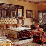 Стиль ампир в интерьере просторной спальни