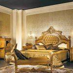 Стиль ампир в просторной спальне