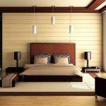 Стиль модерн, оформленный в спальне