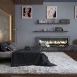 Стильная и современная серая спальня