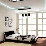 Светлая просторная спальня в японском стиле