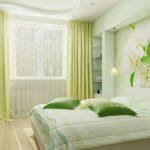 Светло-зеленая спальня для спокойных людей