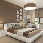 Светлый коричневый цвет для интерьера спальни