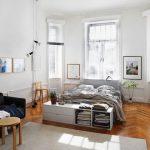 Светлый скандинавский стиль для спальни